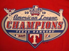 MLB Texas Rangers Major League Baseball 2010 World Series Champions T Shirt L - $17.46