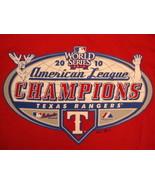 MLB Texas Rangers Major League Baseball 2010 World Series Champions T Sh... - $17.46