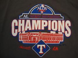 MLB Texas Rangers Major League Baseball 2010 west division champs T Shirt L / XL - $17.36