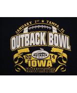 NCAA Iowa Hawkeyes College University Football Fan Outback Bowl 2014 T S... - $17.71