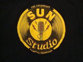 The Legendary Sun Studio Memphis Tennessee Elvis Presley Music Black T Shirt S - $17.36