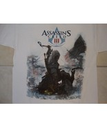 Ubisoft Assassin's Creed III 3 Video Game Connor Kenway Cover White T Sh... - $15.72
