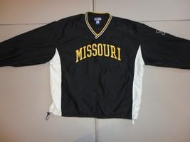 Black Sewn NCAA Missouri Tigers Polyester V Neck Pullover  Jacket Adult ... - $24.94