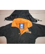 Vintage Rare NCAA Texas Longhorns Adult XS Black Sewn Lined Parka Jacket... - $49.95