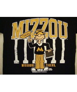 NCAA Missouri Tigers College University Fan Jansport Apparel Black T Shi... - $17.76