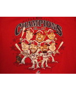 MLB St. Louis Cardinals Baseball Fan Caricature 2011 Champions Red T Shi... - $22.28