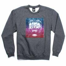LRG Men's Charcoal Heather or Black Triple Threat Lion Crewneck Sweater NWT image 4