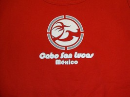 Le Best Cabo San Lucas Mexico beach vacation sleeveless red T Shirt M L - $17.66