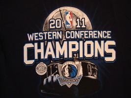 NBA Dallas Mavericks Basketball Fan Western Conference Champions 2011 T Shirt M - $17.76