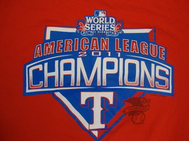 MLB Texas Rangers Major League Baseball World Series Champions 2011 T Shirt XL - $17.76