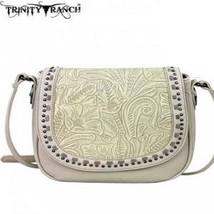 Montana West Trinity Ranch Tooled Design Handbag-Beige ? - $59.39