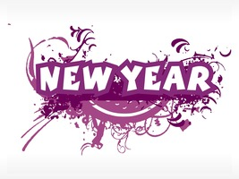 4 Happy New Year AA-Digital Clipart  - $4.00