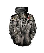 New Fashion Men/Women 3d Hoodies Print Metal Skulls Bride Groom Hooded - $27.00