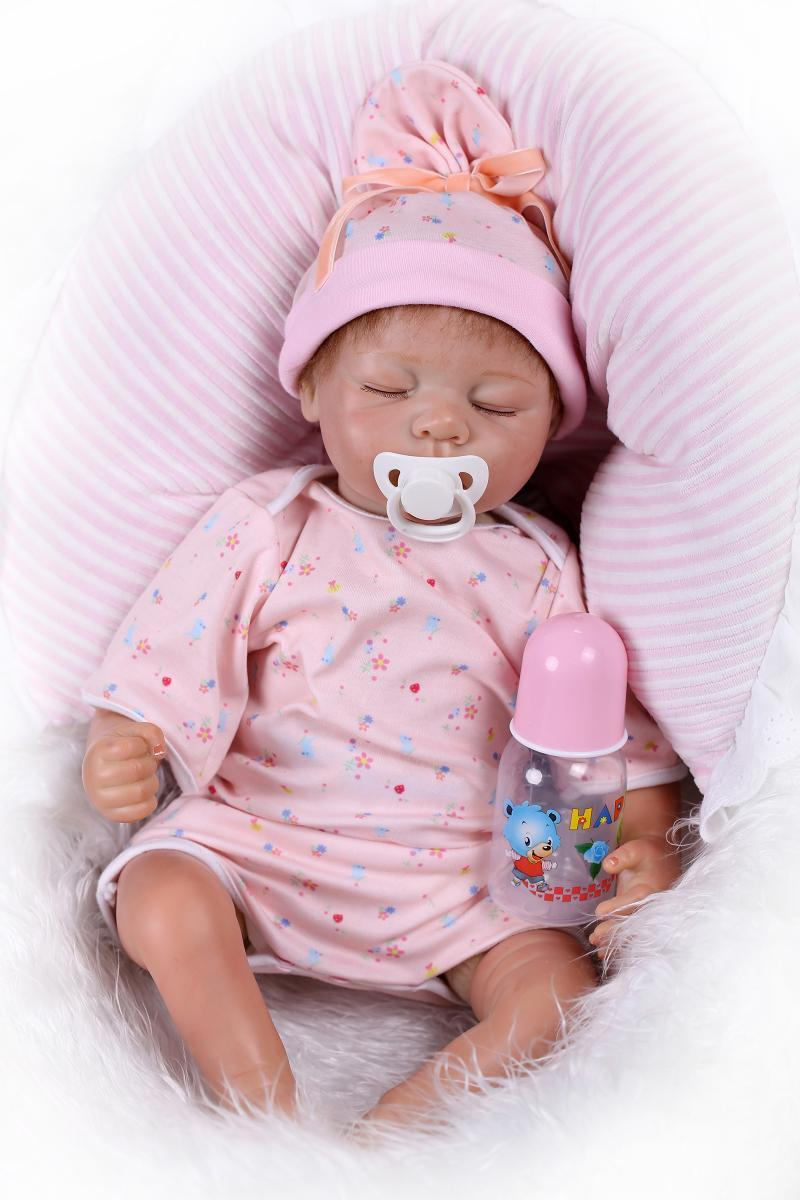 Toy Baby Doll : Silicone reborn baby interactive doll toys real life