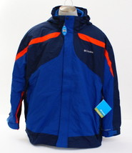 Columbia 3-in-1 Blue Eager Air Omni Shield Interchange Hooded Jacket Men... - $213.74