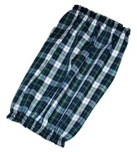 Handmade Dog Snood Blue Green Black Plaid Lightweight Cotton Size XL - $13.50