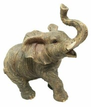 Safari Wildlife Adorable Male Tusked Elephant Trumpeting Collectible Fig... - $14.99