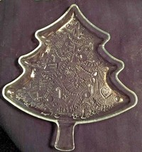 "Christmas Tree 12"" Glass Plate Cookie Appetizers Serving Tray Indiana Gl... - $12.97"