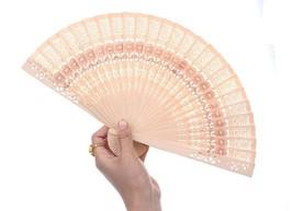 Sandalwood Fan Favor Bridal Shower Gift Wood Fan Chinese Carved Hand Fan - $9.49+