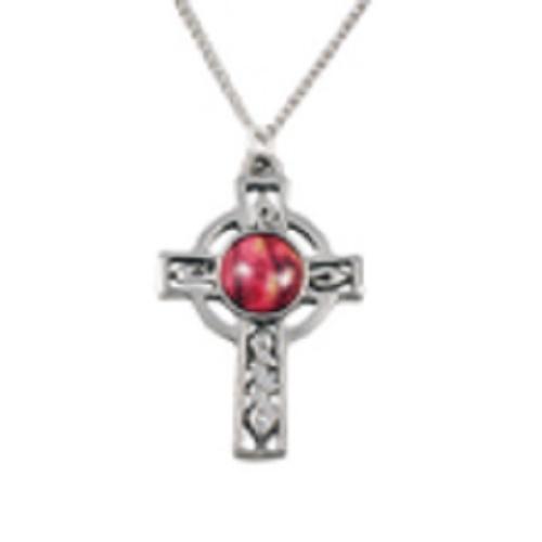 Celtic cross pewter pendant   heathergems