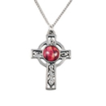 Celtic Cross Pewter Pendant - HeatherGems - HP32