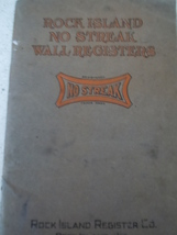 Vintage Rock Island No Streak Wall Registers Product Catalog 1920's - $19.99