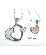 Couples Matching Titanium Steel Necklace Set Free Shipping - $40.00