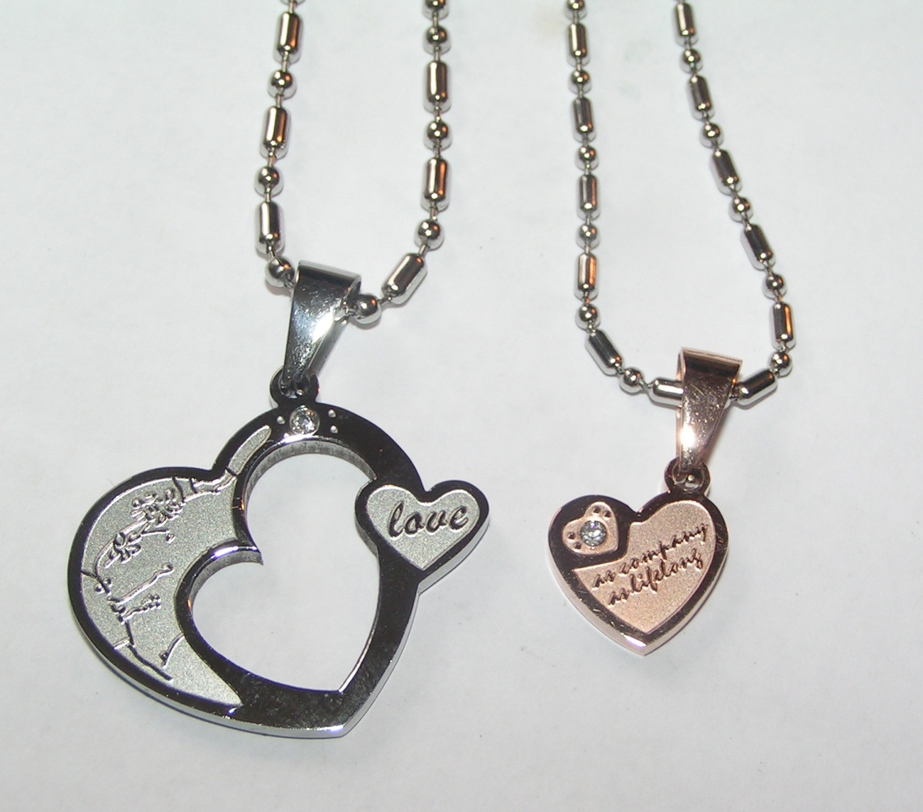 couples matching titanium steel necklace set free shipping ForCouples Matching Jewelry Sets