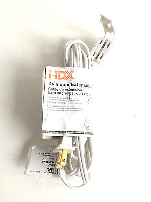 Primary image for 6ft. Indoor Extension Cord White 3 outlets