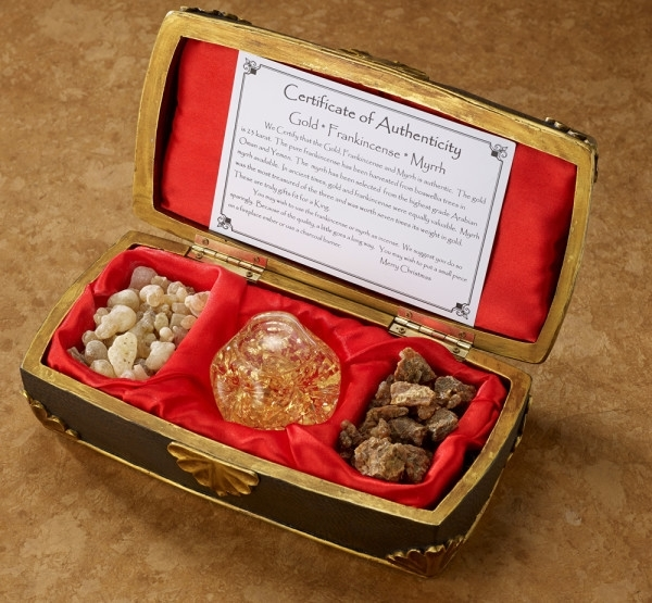 Primary image for Regal Music Box Filled with 23K Gold, Real Frankincense & Myrrh