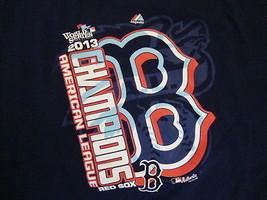 MLB Boston Red Sox Major League Baseball Fan 2013 World Series Blue T Shirt 2XL - $17.46