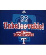 MLB Texas Rangers Major League Baseball Cliff Lee #33 Majestic Blue T Sh... - $17.76