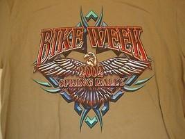 Delta Myrtle Beach Bike Week Spring Rally 2002 brown T Shirt XL - $17.66
