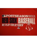 MLB Boston Red Sox Major League Baseball Fan Postseason 2013 Majestic T ... - $19.01