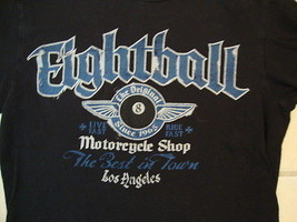 Sonoma Eightball Original Motorcycle Shop Los Angeles LA 1965 Black T Shirt S - $17.56