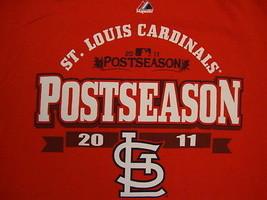 MLB St. Louis Cardinals Baseball postseason 2011 Majestic Apparel Red T ... - $17.56