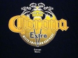 Corona Extra Cancun Mexico Import Beer Liquor College Party T Shirt M - $17.41