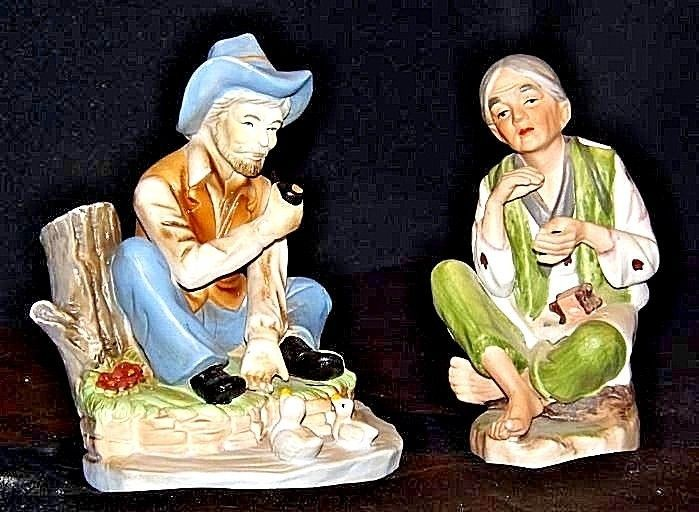 Lady - Gentlemen Figurines AA18 - 1053 Pair of Vintage