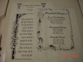 13 POWERS OF A WITCH, 13 GOALS OF A WITCH, AND MAGICKAL CHANTS BOOK OF S... - $5.00