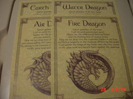 BEAUTIFUL ILLUSTRATED DRAGON ELEMENTAL BOOK OF SHADOW PAGES - $5.00