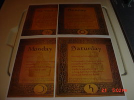 BEAUTIFULLY ILLUSTRATED DAYS OF THE WEEK BOOK OF SHADOW PAGES READ DESC... - $6.66
