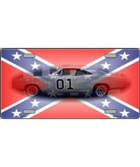Confederate Flag Charger Tag Sign License Plate - $18.99