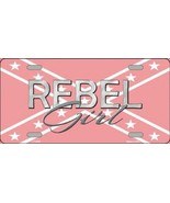 Rebel Girl Confederate Flag  Tag Sign License P... - $18.99