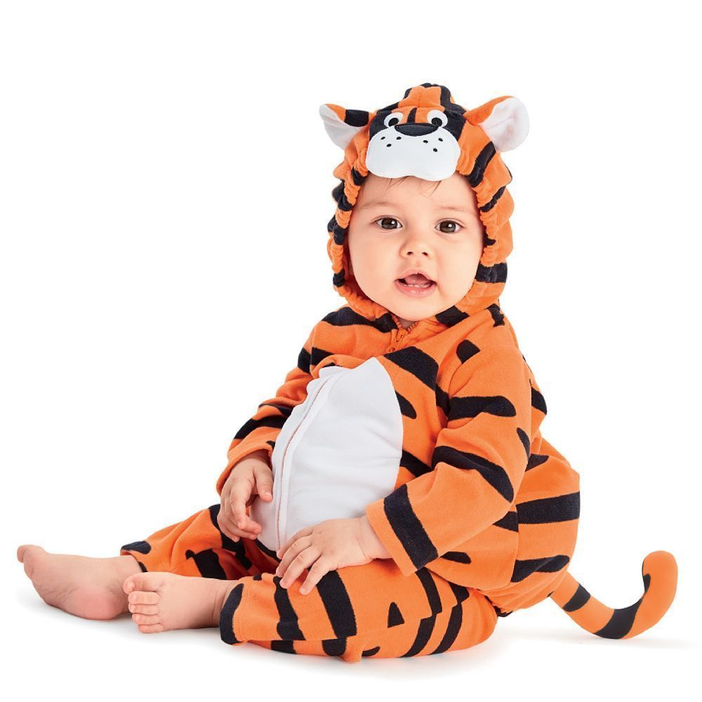 NEW NWT Boys or Girls Carter's Halloween Costume Tiger 3-6 or 6-9 Months