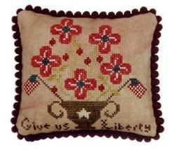 Give Us Liberty patriotic cross stitch chart Threads Of Memory   - $6.30