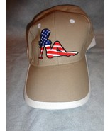 BEIGE TRUCKER MUD FLAP BIKINI GIRL FLAG BASEBALL CAP HAT ADJUSTABLE TWEE... - $2.92