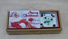 Gold Label Merry Christmas Animated Matchbox Music Box - Plays Jingle Bells - $14.00