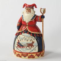 "Jim Shore Lapland Series Santa #4 Figurine 10"" tall Heirloom Christmas Ornament"