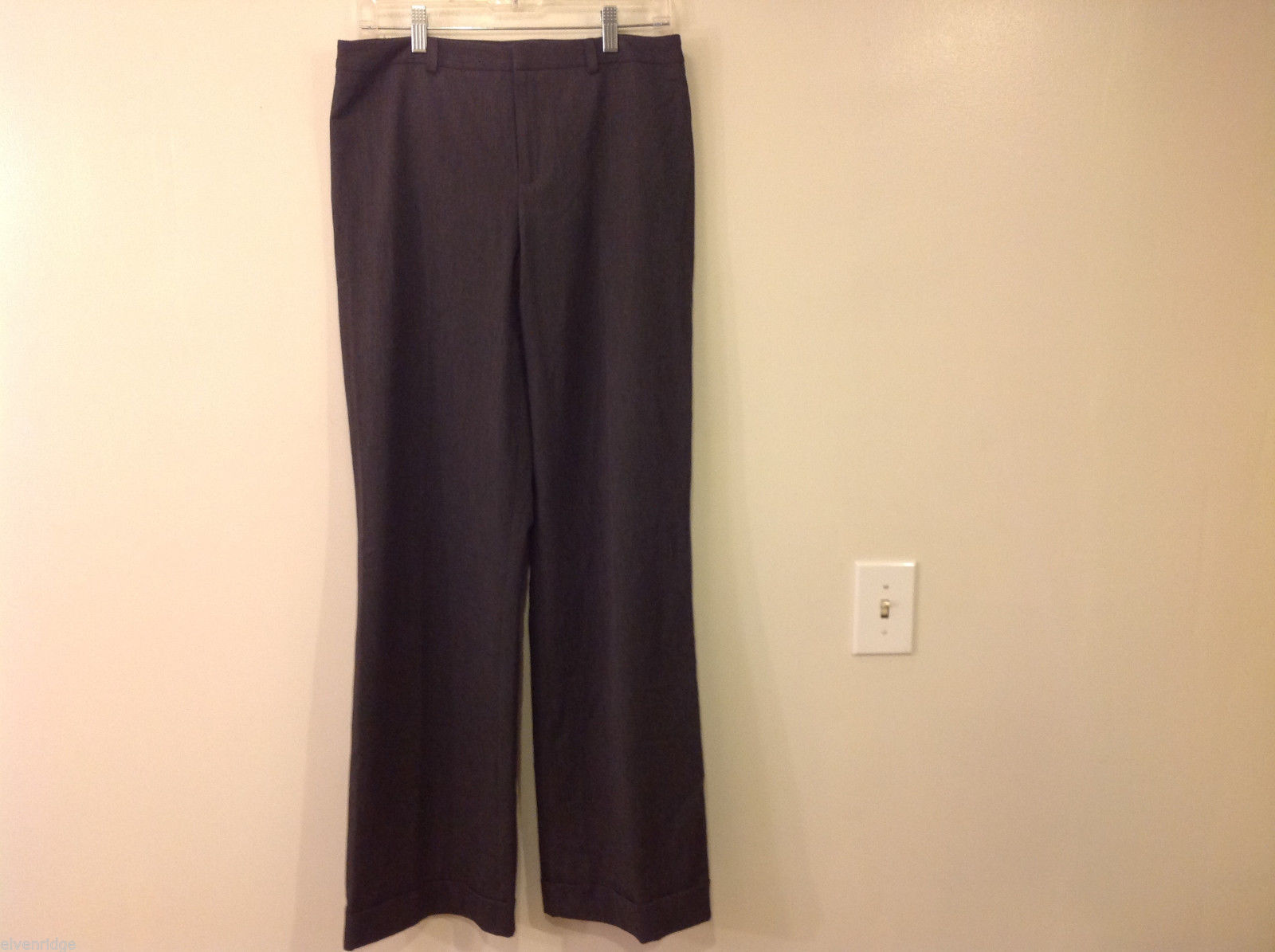 "Nine West Size 8 ""Cyndi"" Dark Charcoal Gray Dress Pants"