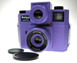 NEW HOLGA 120 GTLR Purple TLR TWIN LENS REFLEX MEDIUM FORMAT CAMERA w/4C... - $54.49
